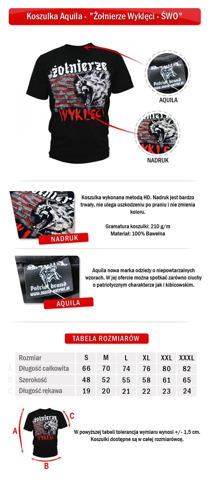 Koszulka Aquila - Żołnierze Wyklęci - ŚWO - 8