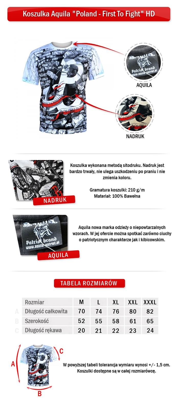 Koszulka Aquila Poland - First To Fight HD - 7